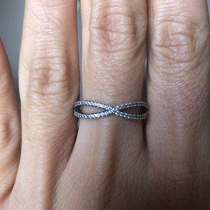 Pandora Crossing Paths Sterling silver Ring